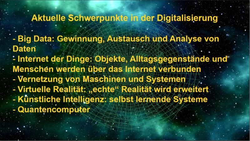 Aktuelle Schwerpunkte in der Digitalisierung