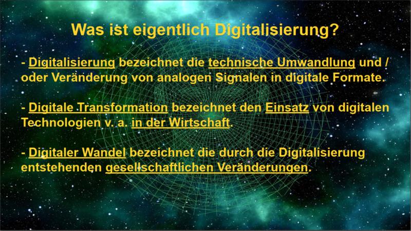 Was ist eigentlich Digitalisierung?